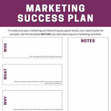 marketing success plan download your free template