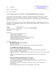 Sample Email Resume Cover Letter by Sample Resume Email Sample Resume Format