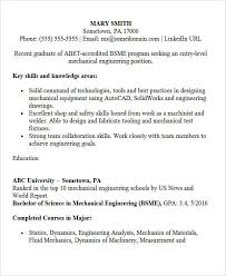 Resume Sample Of Mechanical Engineer Engineering Resume Templates Technical Engineer Resume Engineer