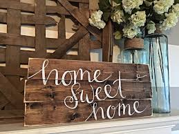 hand painted wood signs home decor marceladick com