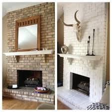 brick fireplace painted white u2026 pinteres u2026