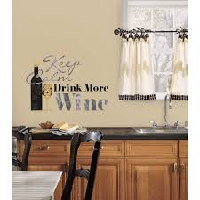 Wall Murals Amazon by Roommates Rmk2373scs Keep Calm And Drink Wine Quote Peel And Stick
