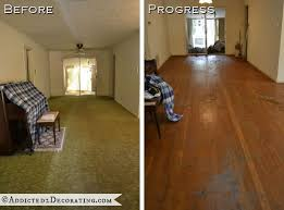 cost to have hardwood floors installed goodbye green carpet hello original hardwood floors