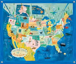 map mural map of usa wall mural