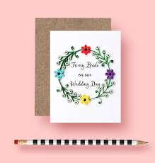 To My Bride On Our Wedding Day Card To My Bride On Our Wedding Day Card Wedding Card Bride