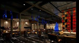modern restaurant interior brick walls wooden decor 244 3d model max