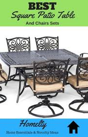 Patio Table And Chairs Set Best Square Patio Table And Chairs Sets For Your Yard