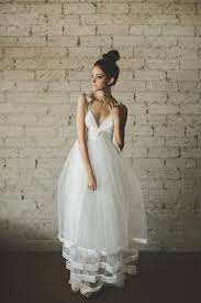 Tulle Wedding Dresses Cleo And Clementine Deep V Neck Floor Length A Line Tiered Tulle