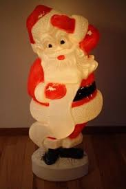 Blow Mold Christmas Decorations Ebay union santa claus blow mold with christmas list 45