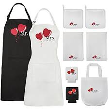 his and wedding gifts mr and mrs aprons est 2017 kitchen wedding gift set
