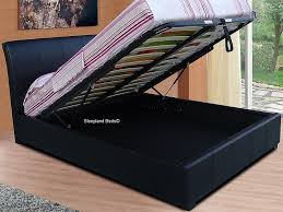 4ft Ottoman Beds Uk 4ft Small Black Ottoman Bed By Sleepland Black Faux Leather