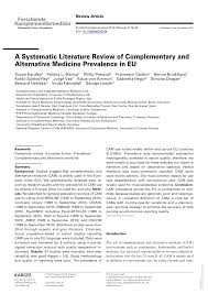 a systematic literature review of complementary and alternative