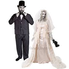 couples ghost bride and groom halloween gothic fancy dress