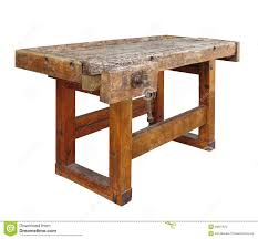 old wooden workbench isolated stock photo image 39697672