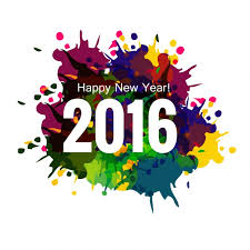 colorful new year 2016 greeting card vector free