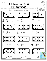 subtraction to 10 with dominos dominos provide a tangible way to