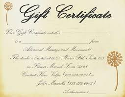 Free Printable Gift Certificate Template Word Massage Gift Certificate Templates
