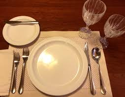 Table Place Settings by Table Setting Etiquette