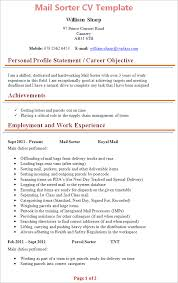 Resume Mail Format Sample by Mail Sorter Cv Template Tips And Download U2013 Cv Plaza