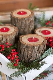 Wood Project Ideas For Christmas by Best 25 Wood Candle Holders Ideas On Pinterest Log Candle