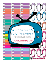 printable tv stickers planner pickett functional tv free diy printable planner stickers