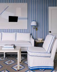 Idea House Living Room By Mark D Sikes Southern Living A Coastal Dream Home In Blue And White Nell Hills