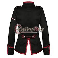 Mcr Halloween Costume Shop Chemical Romance Cosplay Costume Black Red Ladies