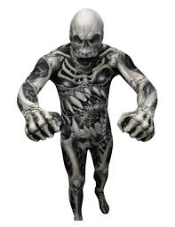 morph halloween costume morphsuits skeleton costume for adults vegaoo