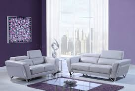 light grey leather sofa u7120 sofa 3pc set in light grey bonded leather by global