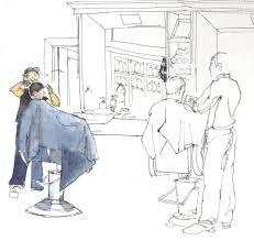 sketching people moving a barbershop quartet