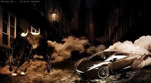 lamborghini vs smart car bull vs lamborghini by camilo mucanda advanced photoshop