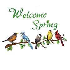 amazon com welcome colorful birds on branches garage door