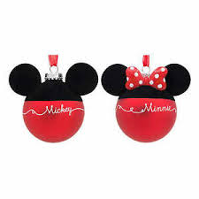 hallmark disney glass ornaments mickey and
