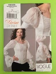 plus size pirate blouse vogue sewing pattern 8326 misses renaissance pirate blouse