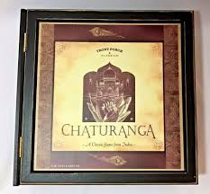 details about chaturanga india game wood box chess family