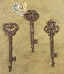 Key Home Decor Bird Decorative Wall Hooks Lulu Decor Cast Iron Key Shape Holder