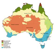 map of aus agriculture in australia