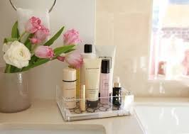 How To Organize A Bathroom How To Instantly Declutter Your Bathroom Counter Small Tray