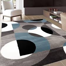 Blue Area Rugs 8 X 10 Modern Circles Blue Area Rug 8 U0027 X 10 U0027 Free Shipping Today