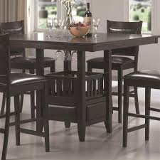 coaster furniture 100958 jaden square counter height table in