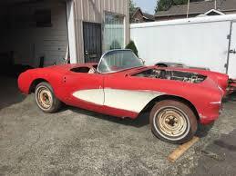 corvette project 1956 chevrolet corvette convertible project car for sale