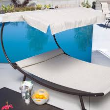 hammock bed lounger double chair pool chaise lounge w canopy