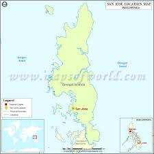san jose dinagat island map where is san jose location of san jose in philippines map