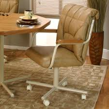 swivel chair casters casual dining chairs with wheels room casters furniture charming