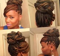 images of black braided bunstyle with bangs in back hairstyle 15 box braids hairstyles that rock bangs braid hairstyles and