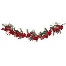 christmas garland 6 foot hydrangea garland hayneedle