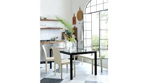 crate and barrel parsons dining table parsons dining room table view in gallery marble and stainless steel