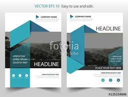 cover layout com blue triangle vector business proposal leaflet brochure flyer