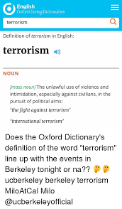 Meme Dictionary Definition - english oxford living dictionaries terrorism definition of