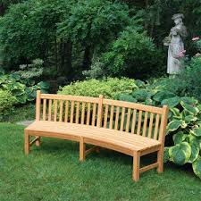 curved benches outdoor teak benches country casual